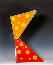 Tetrahedral Stack by Frank Nemick (Ceramic Sculpture)
