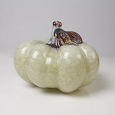 Silver Moon Pumpkins by Treg  Silkwood (Art Glass Sculpture)