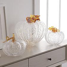 Diamond Pumpkins by Treg  Silkwood (Art Glass Sculpture)