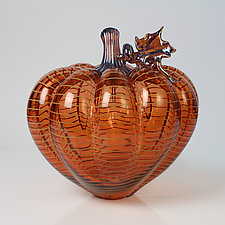 Halcyon Pumpkins by Treg  Silkwood (Art Glass Sculpture)