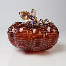 Halcyon Pumpkins by Treg  Silkwood (Art Glass Sculpture)
