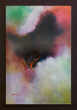 Element Fire IV by Michael Protiva (Mixed-Media Painting)