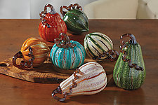 Bountiful Harvest Squash by Leonoff Art Glass  (Art Glass Sculpture)
