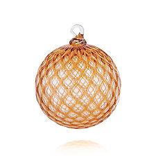 Amber Gem by Leonoff Art Glass  (Art Glass Ornament)
