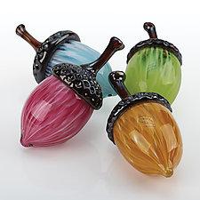 Fantasy Acorns by Leonoff Art Glass  (Art Glass Sculpture)