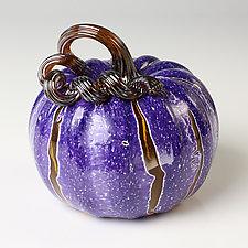 Cornucopia Pumpkins by Leonoff Art Glass (Art Glass Sculpture)