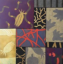 Patterned Nature, Yellow by Emilia Van Nest Markovich (Mixed-Media Collage)