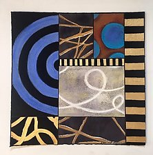 Blue Walk III by Emilia Van Nest Markovich (Pastel Painting)