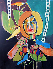 The Sewing by Gale  Gibbs (Acrylic Painting)