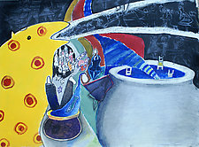 Sometimes It's Just Rock and Roll by Gale  Gibbs (Acrylic Painting)