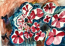 Flowers 2 by Gale  Gibbs (Watercolor Painting)