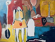 Girl in a Room by Gale  Gibbs (Acrylic Painting)