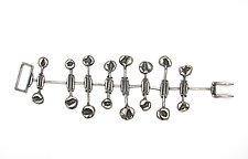 Pillowed Forms Hinged Bracelet by Lauren Passenti (Silver Bracelet)
