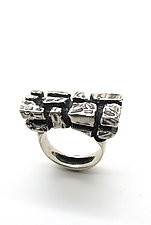 Stone Wall Ring, Size 10 by Lauren Passenti (Silver Ring)