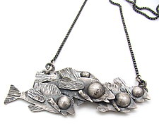 School of Fish Pendant by Lauren Passenti (Silver Necklace)