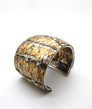 Brass Cliffs Cuff by Lauren Passenti (Silver & Brass Bracelet)