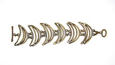 Crescent Brass Bracelet by Lauren Passenti (Brass Bracelet)