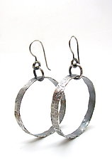 Silver Hoop Earrings by Lauren Passenti (Silver Earrings)
