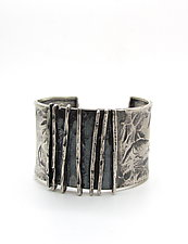 Hammered Lines Cuff by Lauren Passenti (Silver Bracelet)