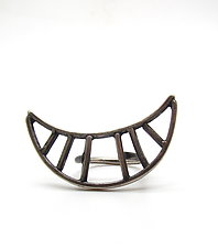 Lined Crescent Ring, Size 7 by Lauren Passenti (Silver Ring)
