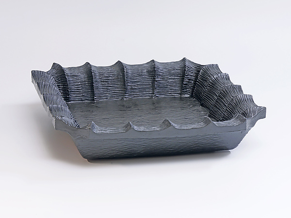 Carved Rim Square Tray