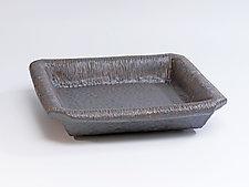 Rolled Rim Square Tray by Emil Yanos (Ceramic Tray)