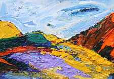 Yellow Hill by Bruce Klein (Acrylic Painting)