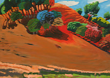 Red Hills by Bruce Klein (Acrylic Painting)
