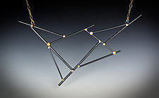 Silvermist Constellation Necklace by Bethany Montana (Gold, Silver & Stone Necklace)