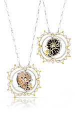 Nautical Charm Necklace by Bethany Montana (Gold, Silver, Pearl & Stone Necklace)