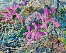 Pink Magnolias by Olena Nebuchadnezzar (Fiber Wall Hanging)