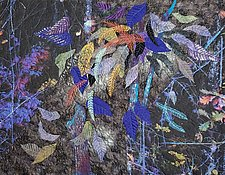 Falling Leaves in the Moonlight by Olena Nebuchadnezzar (Fiber Wall Hanging)
