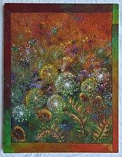 Midnight Meadows I by Olena Nebuchadnezzar (Fiber Wall Hanging)
