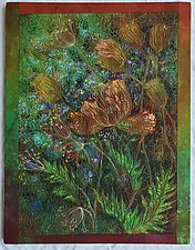 Midnight Meadows III by Olena Nebuchadnezzar (Fiber Wall Hanging)