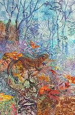 Fire Salamander by Olena Nebuchadnezzar (Fiber Wall Hanging)
