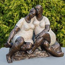 Soul Sisters by Nnamdi Okonkwo (Bronze Sculpture)