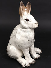 Arctic Hare by Ronnie Gould (Ceramic Sculpture)
