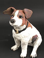 Jack Russell Terrier by Ronnie Gould (Ceramic Sculpture)