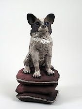 Chihuahua on Pillows by Ronnie Gould (Ceramic Sculpture)