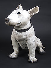 Bull Terrier II by Ronnie Gould (Ceramic Sculpture)