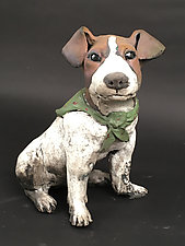 Jack Russell by Ronnie Gould (Ceramic Sculpture)