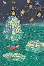 Rowing Under the Pleiades by Paul Bennett (Giclee Print)
