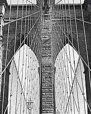 Brooklyn Bridge I by Allan Baillie (Black & White Photograph)