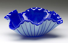 Poppy Bowl in Blue by Denise Bohart Brown (Art Glass Bowl)