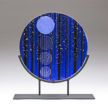 Full Moon Hike by Denise Bohart Brown (Art Glass Sculpture)