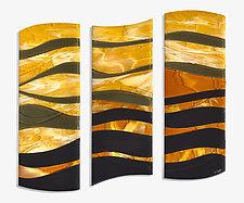 The Light Always Returns by Denise Bohart Brown (Art Glass Wall Sculpture)