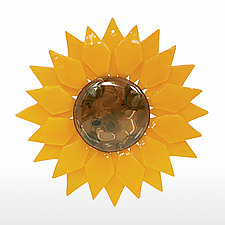 Radiant Sunflower by Denise Bohart Brown (Art Glass Ornament)