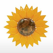 Radiant Sunflower by Denise Bohart Brown (Art Glass Ornament)