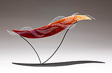 Chasing the Sunset by Denise Bohart Brown (Art Glass Sculpture)