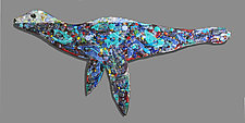 Beau Phoque (Beautiful Seal) by Michael Dupille (Art Glass Wall Sculpture)